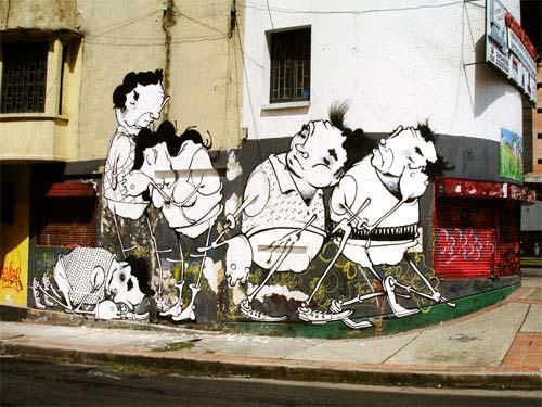 Onesto Graffiti | Bogota, Columbia