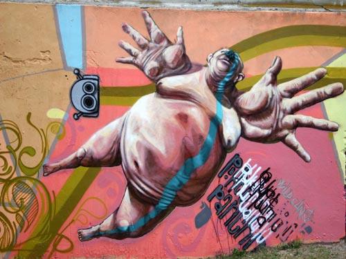 Graffiti Mural in Lublin, Poland