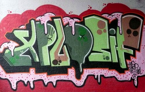 Xplosif Wall Graffiti   Stavenger Hip Hop Festival, Norway