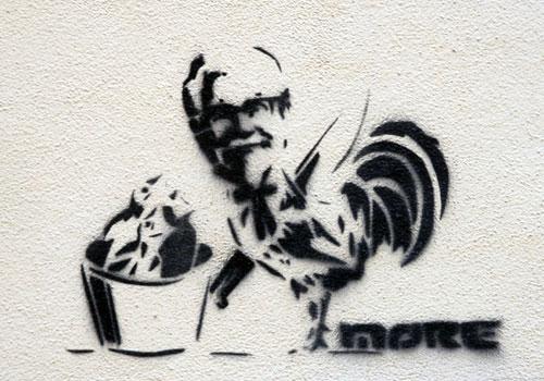 KFC Stencil Graffiti