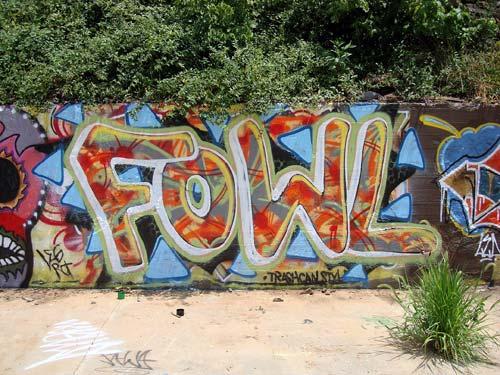 Trashcan Style Graffiti | Chicken Hill, North Carolina